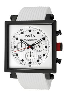 Price:$219.00 #watches Red Line 50036-BB-02-WHT, Showcasing a smart blend of contemporary and classical styles, this Red Line timepiece is a handsome addition to any man's wardrobe.