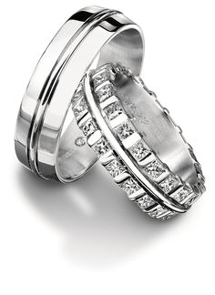 White gold or Platinum wedding bands from Furrer-Jacot. Available at Spitz Jewelers. https://www.facebook.com/SpitzJewelers