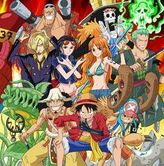All Pictures Of Strawhat Pirates (One Piece) - Mugiwara Team 1 One Piece Crew, One Piece World, Zoro One Piece, Monkey D Luffy, Manga Anime One Piece, Anime Manga, The Pirates, One Piece Series, One Piece Pictures