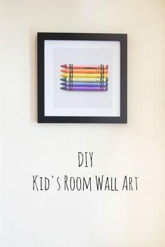 DIY Kid's Room Wall Art | via simple as that