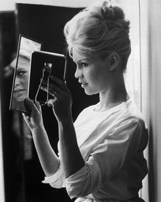 Brigitte Bardot's amazing updo Could work with shaved sides