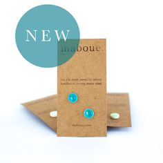 FREE SHIPPING ACROSS US AND CANADA!!The perfect everyday earring. Maboue's porcelain and stoneware studs are simple, versatile and unique. Every pair is cut, glazed, fired and assembled with care in a beautiful backyard studio. Infused with nature and simplicity, they are sure to follow you everywhere! This listing is for one pair of shiny turquoise porcelain stud earrings. They will look amazing on your beautiful summer skin! The back and rims of studs are left unglazed....