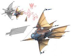 Spaceship Art, Spaceship Design, O Kraken, Dirigible Steampunk, Steampunk Ship, Character Art, Character Design, Concept Art, Concept Ships