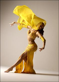 yellow veil, lovely pose, bellydance