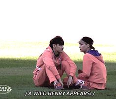 Tao and Kai relaxing until a WILD HENRY COMES LEAPING THROUGH!!