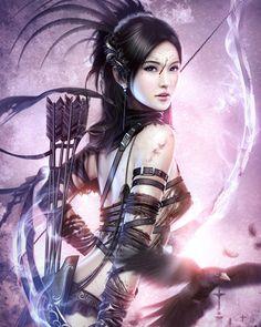 Sword beautiful warrior women