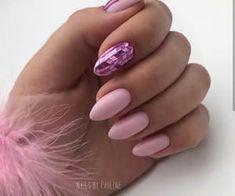 Pale Pink Nails, Rose Gold Nails, Pastel Nail, Gel Nail Polish, Gel Nails, Stiletto Nails, Coffin Nails, Acrylic Nails, Uñas Fashion