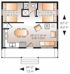 Image result for 600 sq ft living space floor plan 2 bed 1 bath ...