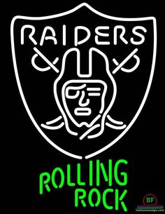 Rolling Rock Oakland Raiders Neon Sign NFL Teams Neon Light