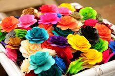 150 Assorted Wooden Roses   AccentsandPetals - Wedding on ArtFire