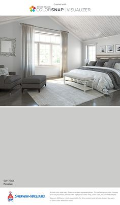 I found this color with ColorSnap® Visualizer for iPhone by Sherwin-Williams: Passive (SW 7064).