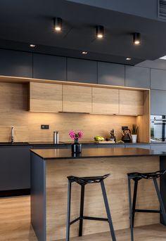 Kitchen Room Design, Kitchen Cabinet Design, Kitchen Sets, Modern Kitchen Design, Dining Room Design, Interior Design Kitchen, Interior Modern, Farmhouse Kitchen Cabinets, Kitchen Backsplash