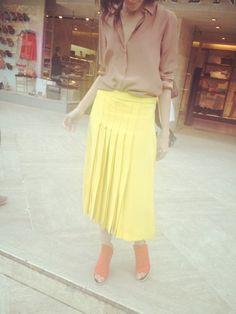 Zara top, Chloe skirt