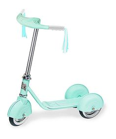 Look at this Aqua Retro Scooter on #zulily today!