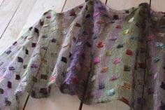 ♥♥♥ No pattern.  Stockinette stitch in Kid Seta with duplicate stitch squares in Noro sock.