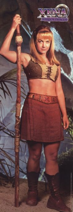 Gabrielle from Xena Show  (Gotta love Gabs' mighty abs! by UniversoTv.com: Thx)