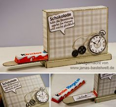 Janas Bastelwelt - Unabhängige Stampin' Up! Demonstratorin: Mitbringsel Candy Crafts, Paper Crafts, Stampin Up, Pillow Box, Pop Up Cards, Creative Gifts, Little Gifts, Handmade Christmas, Diy And Crafts