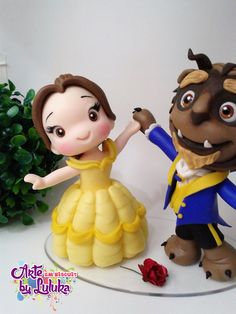 1 million+ Stunning Free Images to Use Anywhere Fondant Figures Tutorial, Fondant Toppers, Polymer Clay Creations, Polymer Clay Crafts, Polymer Clay Disney, Beauty And The Beast Party, Disney Princess Birthday, Free To Use Images, Clay Figurine