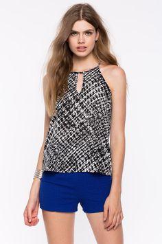 Топ Размеры: S, M, L Цвет: черный с принтом Цена: 1190 руб.     #одежда #женщинам #топы #коопт