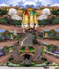 Lord Murugan temple in Bangalore, India Beautiful Places In The World, Places Around The World, Travel Around The World, Around The Worlds, Temple Indien, Places To Travel, Places To Visit, Bangalore India, Hindu India
