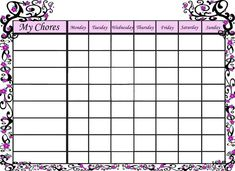 Free Reward Charts To Download Free Printable Kid's Allowance Saving Worksheet  Budgeting .