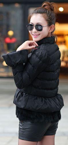 Cotton Padded Jacket with Rabbit Fur YRB0332 £38.60