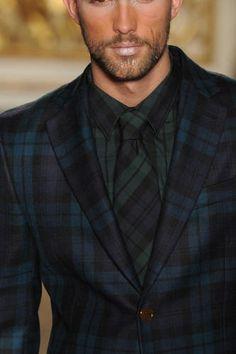 blue tartan suit mens - Google Search