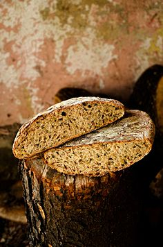 I adore cinnamon- subjective culinary blog with the scent of cinnamon: Wheat bread leavened with a caramelized leek and grains