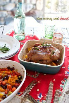 ... way. Citrus Rosemary Roast Pheasant | recipe on FamilyFreshCooking.com