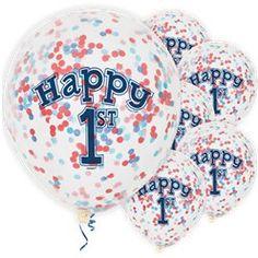 Happy Birthday Blue Confetti Balloons - Latex - Birthday Balloons & Decorations (Pack of Pastel Balloons, Clear Balloons, Mini Balloons, Gold Confetti Balloons, White Balloons, 1st Birthday Balloons, Birthday Balloon Decorations, Rainbow Balloon Arch