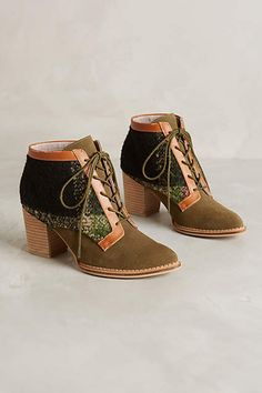 NEW Anthropologie Pilcro Lace-Up Booties Size 10Color  Moss Ankle Boots -198.00  | eBay