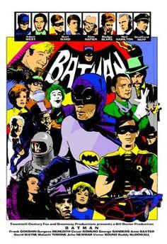 Batman season one tv print by Andy Fish