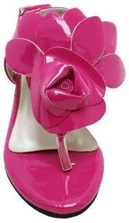 Me Too Shoes *Rosetta* Fuschia Patent Big Flower Sandal *Fuschia*  $34.95