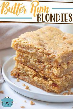 Homemade Desserts, Easy Desserts, Dessert Recipes, Gourmet Recipes, Sweet Recipes, Baking Recipes, Bar Recipes, Butter Rum Lifesavers, Rum Extract