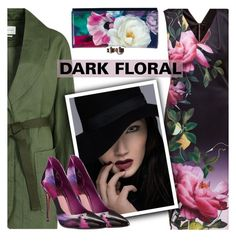 """""""In Bloom: Dark Florals"""" by shoaleh-nia ❤ liked on Polyvore featuring Ted Baker and Étoile Isabel Marant"""