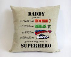 Superhero Father Son Gift First Fathers Day From For