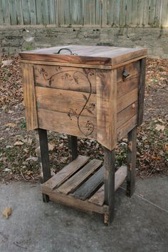 Your place to buy and sell all things handmade Etsy Furniture, Wood Pallet Furniture, Pallet Wood, Wood Pallets, Furniture Ideas, Outdoor Cooler, Outdoor Pallet, Indoor Outdoor, Outdoor Living