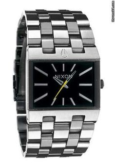 Nixon Men's The Ticket Black Dial Stainless Steel Watch Rolex Watches, Watches For Men, Nixon Watches, Brand Name Watches, Discount Watches, Dream Watches, Clothes Horse, Watch Sale, Stainless Steel Watch