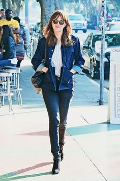 Dakota out and about in Los Feliz, CA!! I just love her style!! She really is quite beautiful!! everythingjamiedornan.com