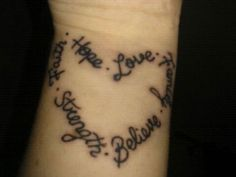 heart of words 25 Precious Faith Hope Love Tattoo