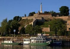Kalemegdan fortress with crousing boat