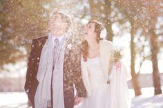 Snowy Vintage Michigan Wedding| Kelly Sweet Photography