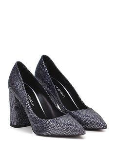 The dance shoes feature p. STRATEGIA - Decolletè - Donna - Decolletè in  glitter con suola in cuoio e tacco 95