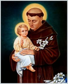 Lives of the Saints for every day - Saint Anthony of Padua, Doctor of the Church and Miracle-Worker Oracion A San Antonio, Saint Anthony Of Padua, The Afflicted, Lady Of Fatima, Religious Images, Religious Education, Catholic Saints, Mother Mary, Christianity