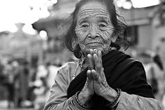 Old Woman in Kathmandu by ColorsOfTheSenses on Etsy, €20.00