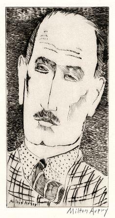 Head of a Man - A Portrait of Louis Wiesenberg, the Artist by Milton Avery
