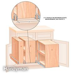 Build Organized Lower Cabinet Rollouts for Increased Kitchen Storage | The Family Handyman
