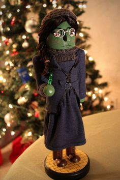 #Elphaba Nutcracker by customizedcrackers on Etsy | #Wicked #Musical