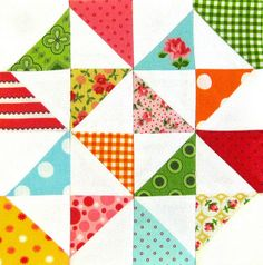 Farmer's Wife Quilt-a-Long Block #11 - Broken Dishes by Ellie@CraftSewCreate, via Flickr