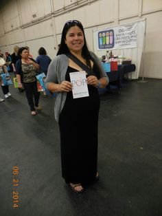 Priscilla Green of San Bruno. Oh, and she happens to be holding my book - what a COINCIDENCE!